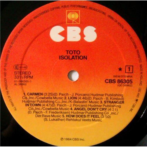Картинка  Виниловые пластинки  Toto – Isolation / CBS 86305 в  Vinyl Play магазин LP и CD   04386 4