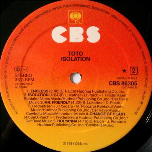 Картинка  Виниловые пластинки  Toto – Isolation / CBS 86305 в  Vinyl Play магазин LP и CD   04386 5