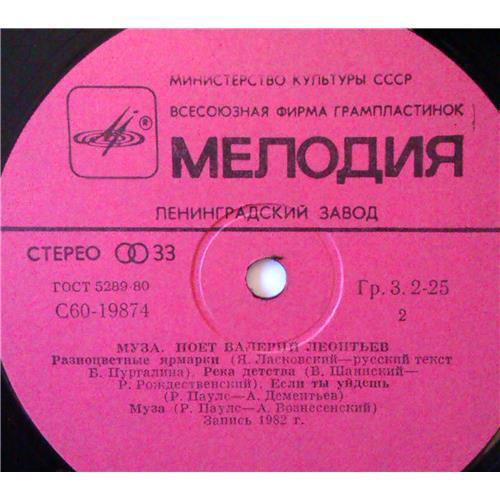 Картинка  Виниловые пластинки  Валерий Леонтьев – Муза / С60 19873 006 в  Vinyl Play магазин LP и CD   03850 3