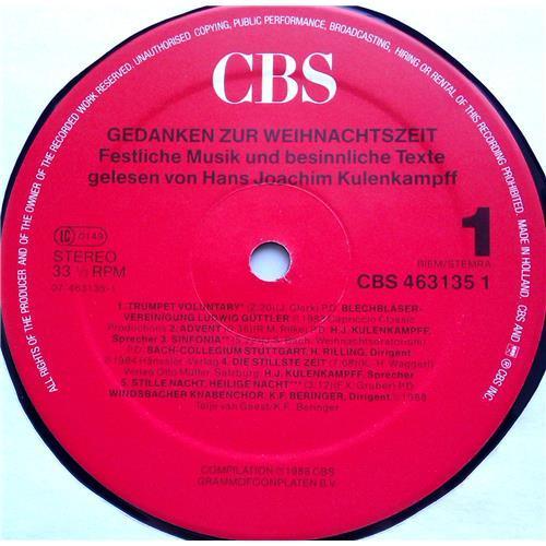 Картинка  Виниловые пластинки  Various – Gedanken Zur Weihnachtszeit - Festliche Musik Und Besinnliche Texte / CBS 463135 1 в  Vinyl Play магазин LP и CD   06480 2