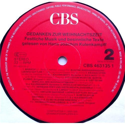 Картинка  Виниловые пластинки  Various – Gedanken Zur Weihnachtszeit - Festliche Musik Und Besinnliche Texte / CBS 463135 1 в  Vinyl Play магазин LP и CD   06480 3