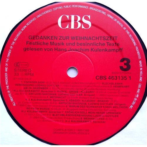 Картинка  Виниловые пластинки  Various – Gedanken Zur Weihnachtszeit - Festliche Musik Und Besinnliche Texte / CBS 463135 1 в  Vinyl Play магазин LP и CD   06480 4