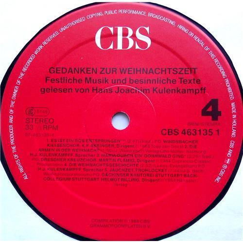 Картинка  Виниловые пластинки  Various – Gedanken Zur Weihnachtszeit - Festliche Musik Und Besinnliche Texte / CBS 463135 1 в  Vinyl Play магазин LP и CD   06480 5