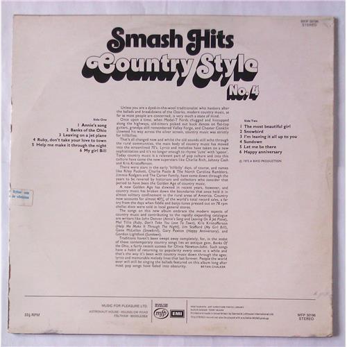 Картинка  Виниловые пластинки  Various – Smash Hits Country Style No. 4 / MFP 50196 в  Vinyl Play магазин LP и CD   05900 1