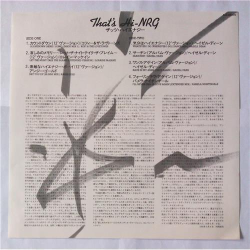 Картинка  Виниловые пластинки  Various – That's HI-NRG / ALI-28005 в  Vinyl Play магазин LP и CD   05737 2