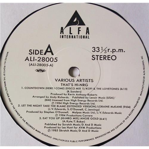 Картинка  Виниловые пластинки  Various – That's HI-NRG / ALI-28005 в  Vinyl Play магазин LP и CD   05737 4