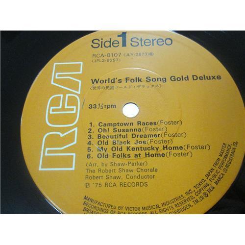 Картинка  Виниловые пластинки  Various – World's Folk Song Gold Deluxe / RCA-8107-8 в  Vinyl Play магазин LP и CD   01571 4