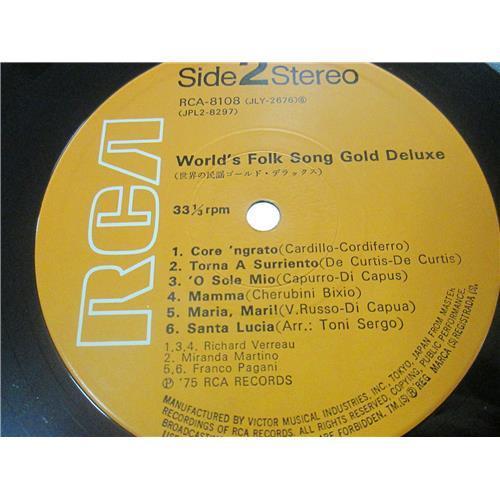 Картинка  Виниловые пластинки  Various – World's Folk Song Gold Deluxe / RCA-8107-8 в  Vinyl Play магазин LP и CD   01571 7