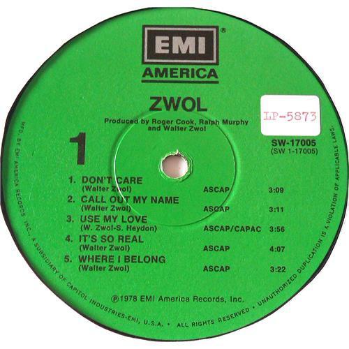 Картинка  Виниловые пластинки  Walter Zwol – Zwol / SW-17005 в  Vinyl Play магазин LP и CD   06505 4