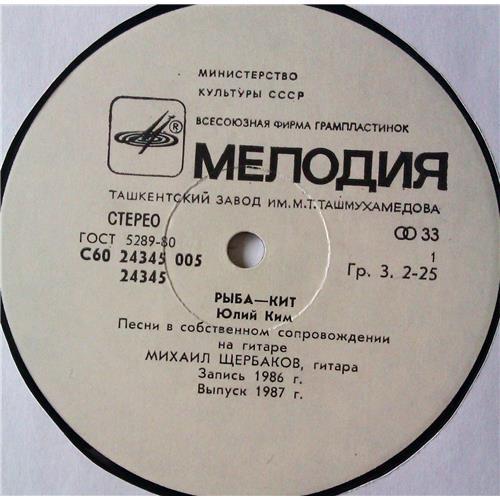 Картинка  Виниловые пластинки  Юлий Ким – Рыба-Кит / С60 24345 005 в  Vinyl Play магазин LP и CD   05300 2