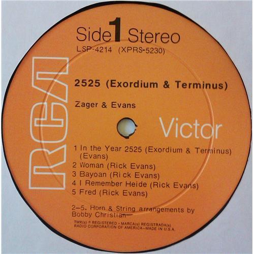 Картинка  Виниловые пластинки  Zager & Evans – 2525 (Exordium & Terminus) / LSP-4214 в  Vinyl Play магазин LP и CD   04719 4