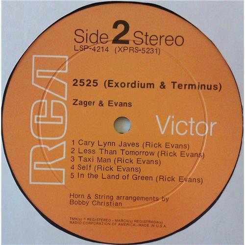 Картинка  Виниловые пластинки  Zager & Evans – 2525 (Exordium & Terminus) / LSP-4214 в  Vinyl Play магазин LP и CD   04719 5